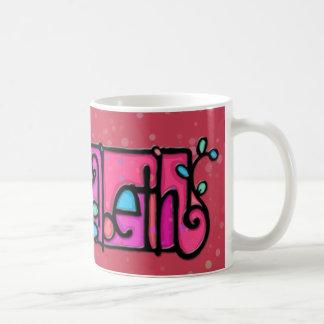 Custom painted mug ELIZABETH cranberry