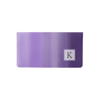 Custom painted purple lavender ombre watercolor checkbook cover