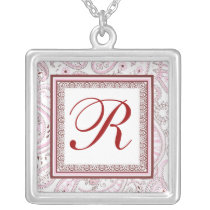 Custom Paisley Initial necklace