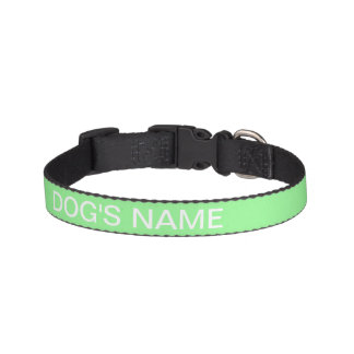 Custom Pale Green Gift Solid Color Pet Collar