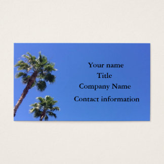 Custom palm tree business card
