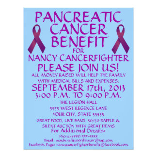 Custom Pancreatic Cancer Benefit Flyer