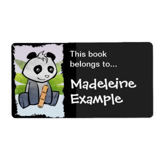 Custom Panda Booktag Label