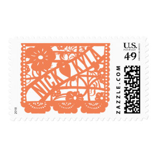 Custom Papel Picado - Nick Heart Kyla Postage