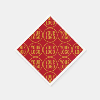 Custom Paper Napkins with Company Logo Low Minimum