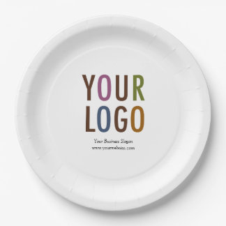 "Custom Paper Plate 9"" with Logo & Promotional Text"