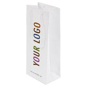 Custom Paper Wine Bag With Company Logo No Minimum