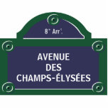 """Custom Paris Street Sign Cutout<br><div class=""""desc"""">Custom Paris street sign acrylic cutout - personalize it with your own text or customize it further if you wish to change the layout and fonts.</div>"""