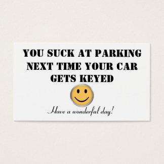 Custom parking card