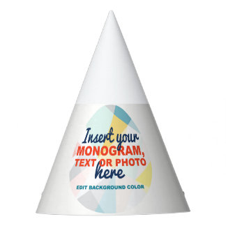 Custom Party Hat: Add your own logo, monogram/text Party Hat
