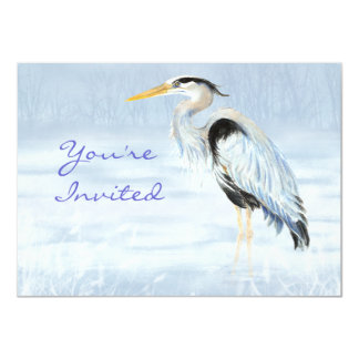 Custom Party Invite Great Blue Heron Bird