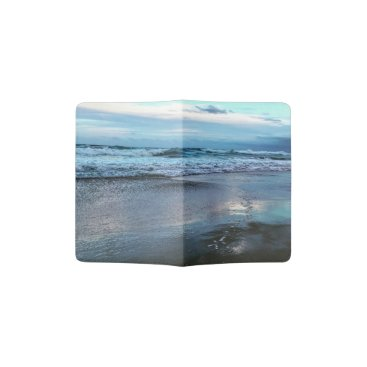 Beach Themed Custom Passport Holder Beach Sunset.