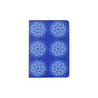 Custom Passport Holder with BLue Mandala Design