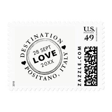 Beach Themed Custom Passport Stamp Destination Wedding | Small