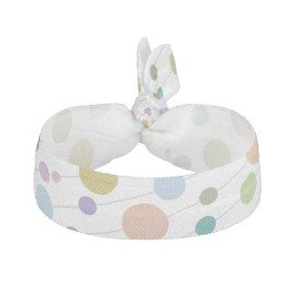 Custom Pastel Polka Dots Elastic Hair Ties