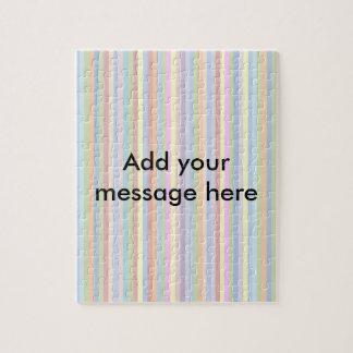 Custom Pastel Stripes Puzzle