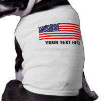 Custom patriotic American flag pet dog clothing