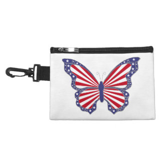 Custom Patriotic Butterfly Accessory Bag