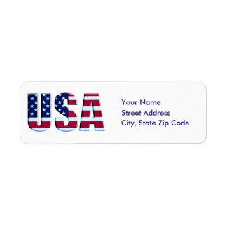 Custom Patriotic Flag USA Label