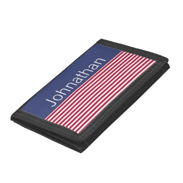 USA Themed Custom Patriotic Red White and Blue Wallet