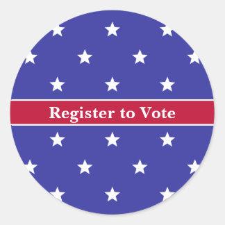 Custom Patriotic Register to Vote Sticker