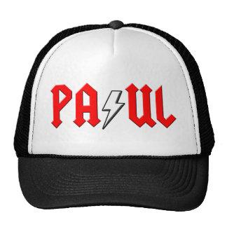 custom PAUL rock and roll shirt Mesh Hats