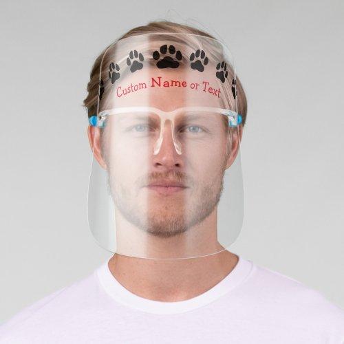Custom Paw Print Face Shield