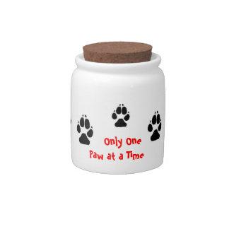 Custom Paw Prints Cookie Jar Candy Jar