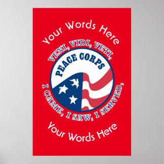 Custom Peace Corps Logo VVV Poster