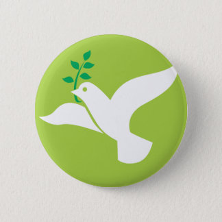 Custom Peace Dove With Olive Logo Button