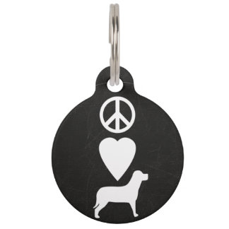 Custom Peace Love Dogs Personalized Dog Tag