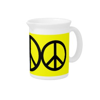 Custom Peace Sign Pitcher