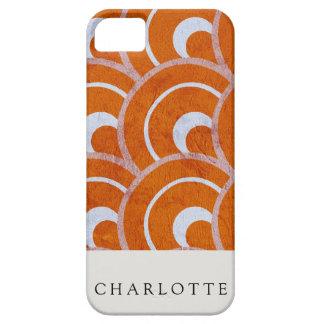 Custom Peacock Orange iPhone 5 Case
