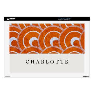 Custom Peacock Orange Decals For Laptops