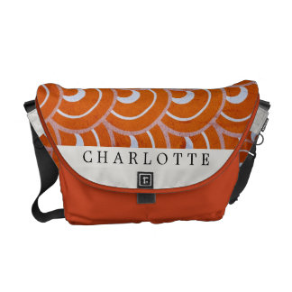Custom Peacock Orange Messenger Bag