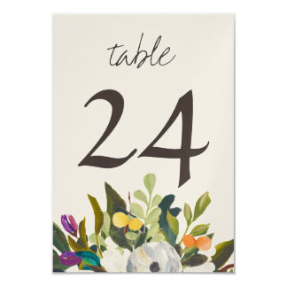 Custom Pearl Shimmer Small Table Numbers Card