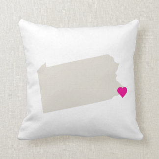 Custom Pennsylvania State Love Reversible Pillow