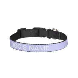 Custom Periwinkle Formal Color Complementing Pet Collar