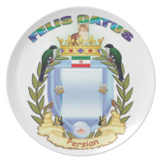 Custom Persian Cat crest plate - Flag of Iran