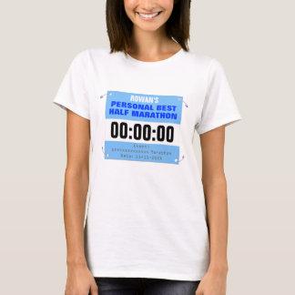 Custom Personal Best Half-Marathon Runner T-Shirt
