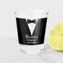 Custom Personalised Groomsmen Gift Shot Glass