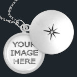 "Custom Personalised Photo Locket Necklace<br><div class=""desc"">Customisable,   necklace locket with your photo. Good gift idea for a friend or loved one. Add your own picture or photo to create a personal birthday present or gift,  for mom or girlfriend.</div>"