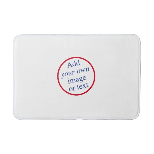 Custom personalize create your own template bath mat for Customize your own bathroom