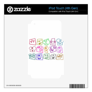 custom personalize do it yourself project home iPod touch 4G decal