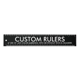 "Custom Personalized 12"" Acrylic Ruler Blank"