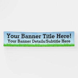 Custom Personalized 12' Wide Summer Scene Banner