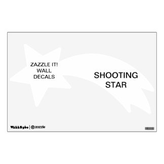 """Custom Personalized 12""""x18"""" SHOOTING STAR Decal"""