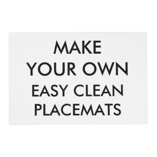 "Custom Personalized 12"" x 8"" Easy Clean Placemat"