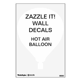 "Custom Personalized 18""x12"" AIR BALLOON Wall Decal"