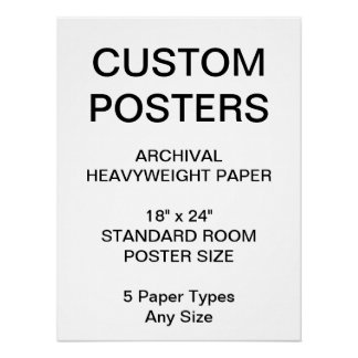 "Custom Personalized 18""x24"" Archival Paper Poster"